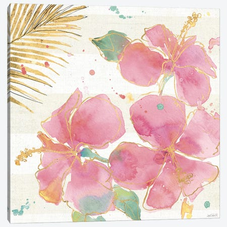 Flamingo Fever VII Canvas Print #WAC3801} by Anne Tavoletti Canvas Artwork