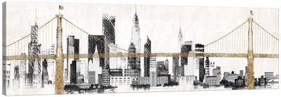 Bridge and Skyline Canvas Art Print