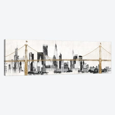 Bridge and Skyline 3-Piece Canvas #WAC3806} by Avery Tillmon Canvas Print