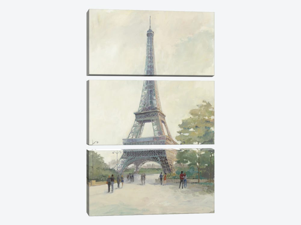 Early Evening Paris by Avery Tillmon 3-piece Canvas Print