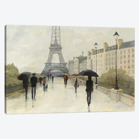 Eiffel in the Rain Canvas Print #WAC3809} by Avery Tillmon Canvas Artwork