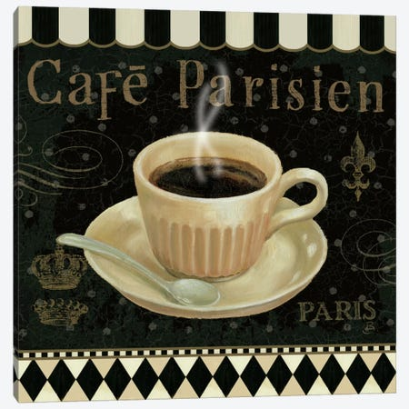 Cafe Parisien I Canvas Print #WAC380} by Daphne Brissonnet Canvas Art Print