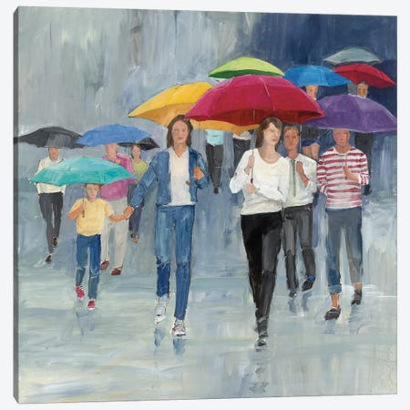 Just Walkin' In The Rain Canvas Print #WAC3810} by Avery Tillmon Art Print