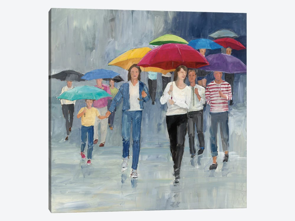 Just Walkin' In The Rain by Avery Tillmon 1-piece Canvas Artwork