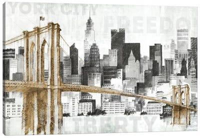 New York Skyline I Canvas Print #WAC3811