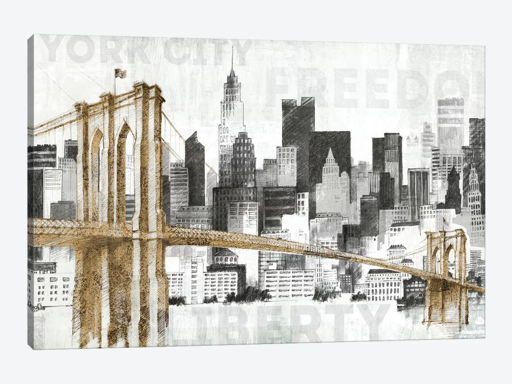 New York Skyline I by Avery Tillmon 1-piece Canvas Print
