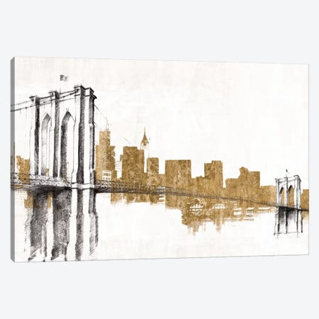 Skyline Crossing (Gold) 3-Piece Canvas #WAC3814} by Avery Tillmon Canvas Artwork
