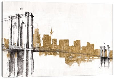 Skyline Crossing (Gold) Canvas Art Print