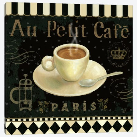 Cafe Parisien II Canvas Print #WAC381} by Daphne Brissonnet Canvas Art Print
