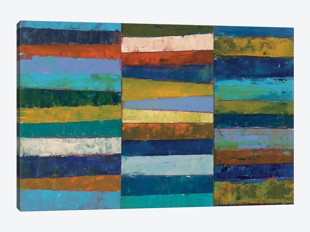 Abstract Stripe II by Cheryl Warrick 1-piece Canvas Art Print
