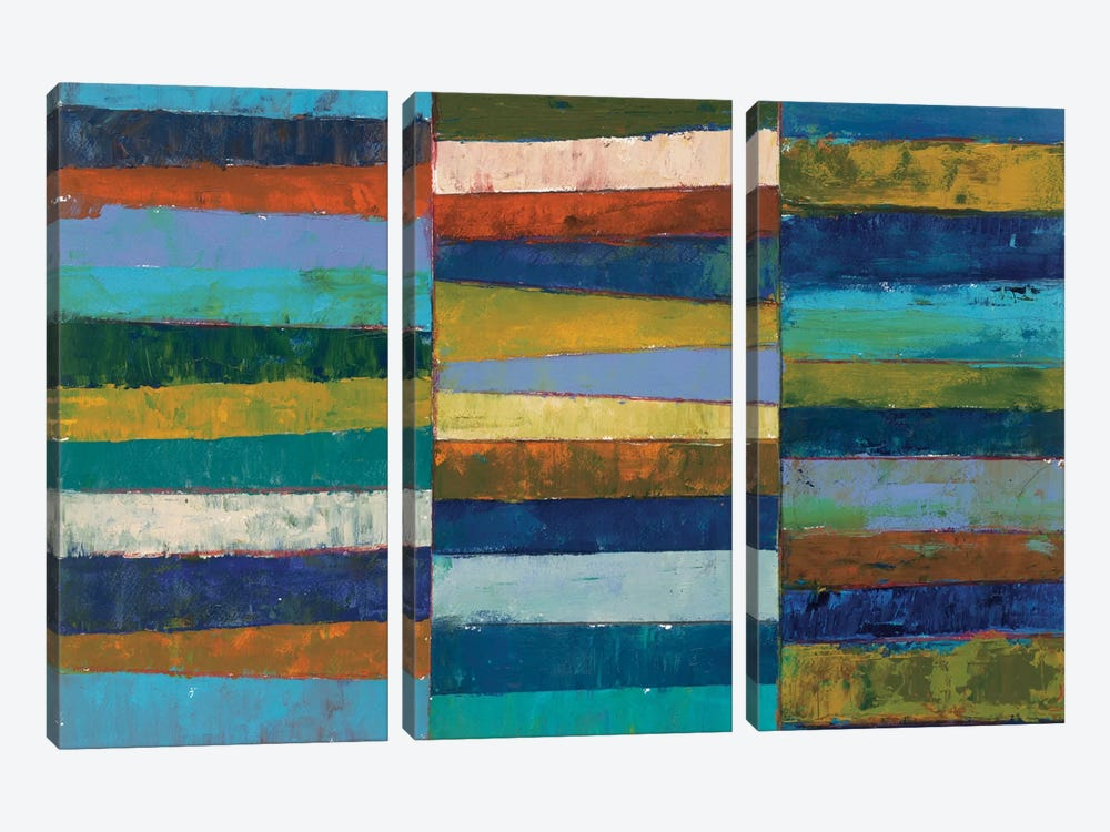 Abstract Stripe II by Cheryl Warrick 3-piece Art Print