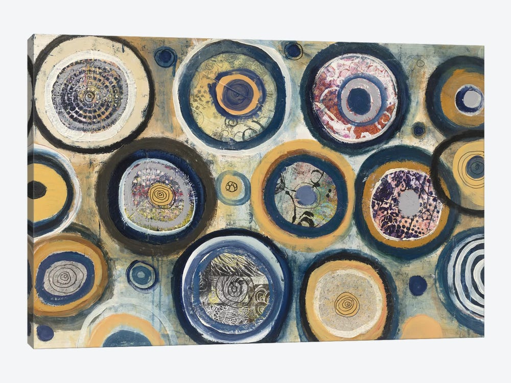 Circle Song by Cheryl Warrick 1-piece Canvas Art