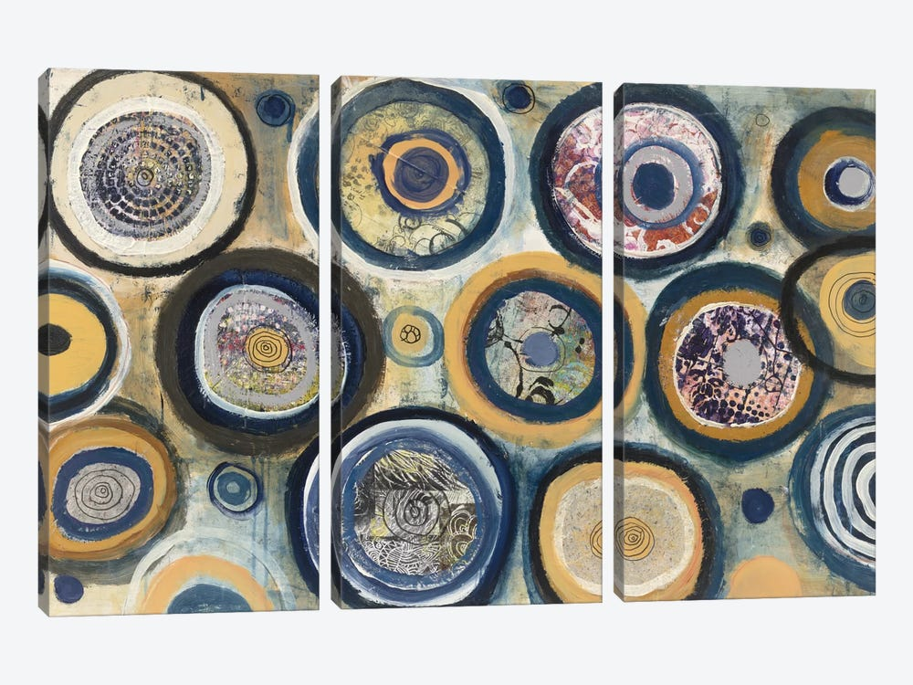 Circle Song by Cheryl Warrick 3-piece Canvas Wall Art