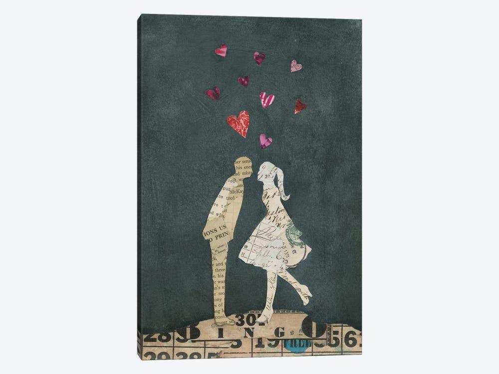 Cute Couple I by Courtney Prahl 1-piece Canvas Artwork