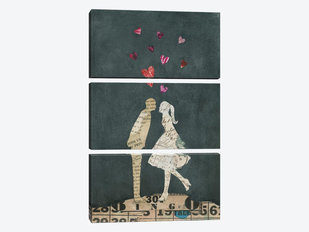 Cute Couple I by Courtney Prahl 3-piece Canvas Wall Art