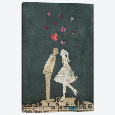 Cute Couple I Canvas Print #WAC3829} by Courtney Prahl Canvas Artwork