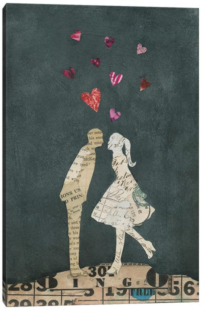 Cute Couple I Canvas Art Print