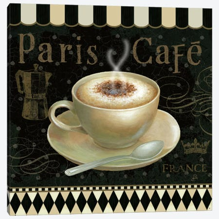 Cafe Parisien III Canvas Print #WAC382} by Daphne Brissonnet Art Print