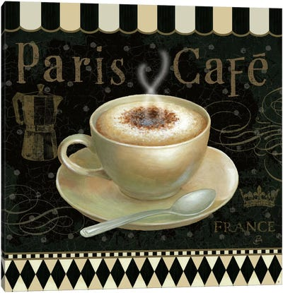 Cafe Parisien III Canvas Art Print