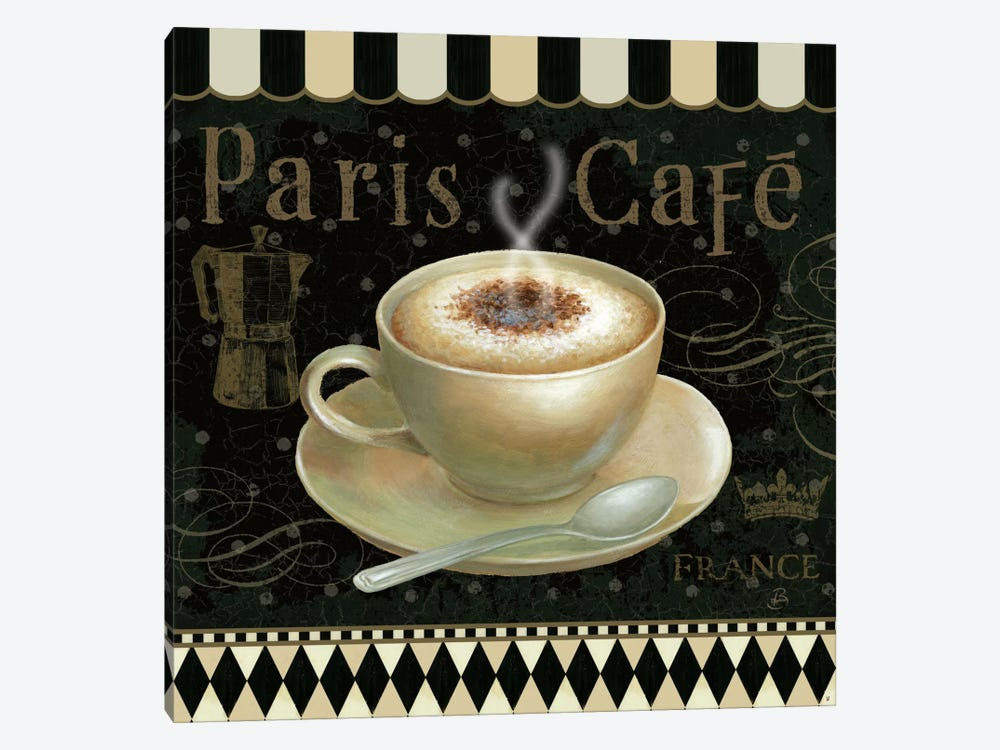 Cafe Parisien III by Daphne Brissonnet 1-piece Canvas Artwork