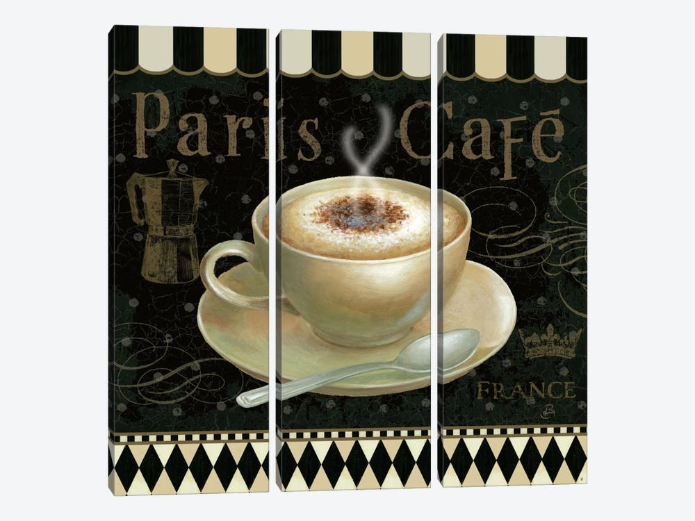 Cafe Parisien III by Daphne Brissonnet 3-piece Canvas Artwork