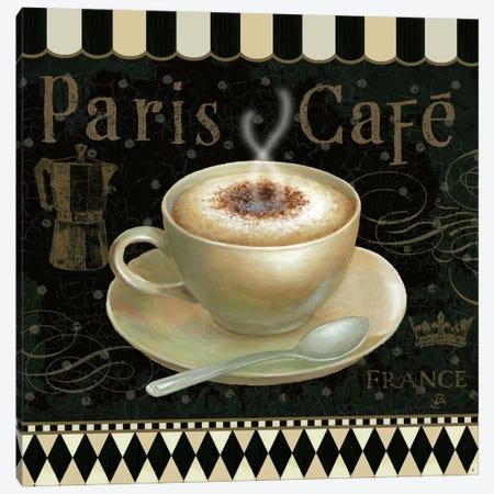 Cafe Parisien III Canvas Print #WAC382} by Daphne Brissonnet Art Print