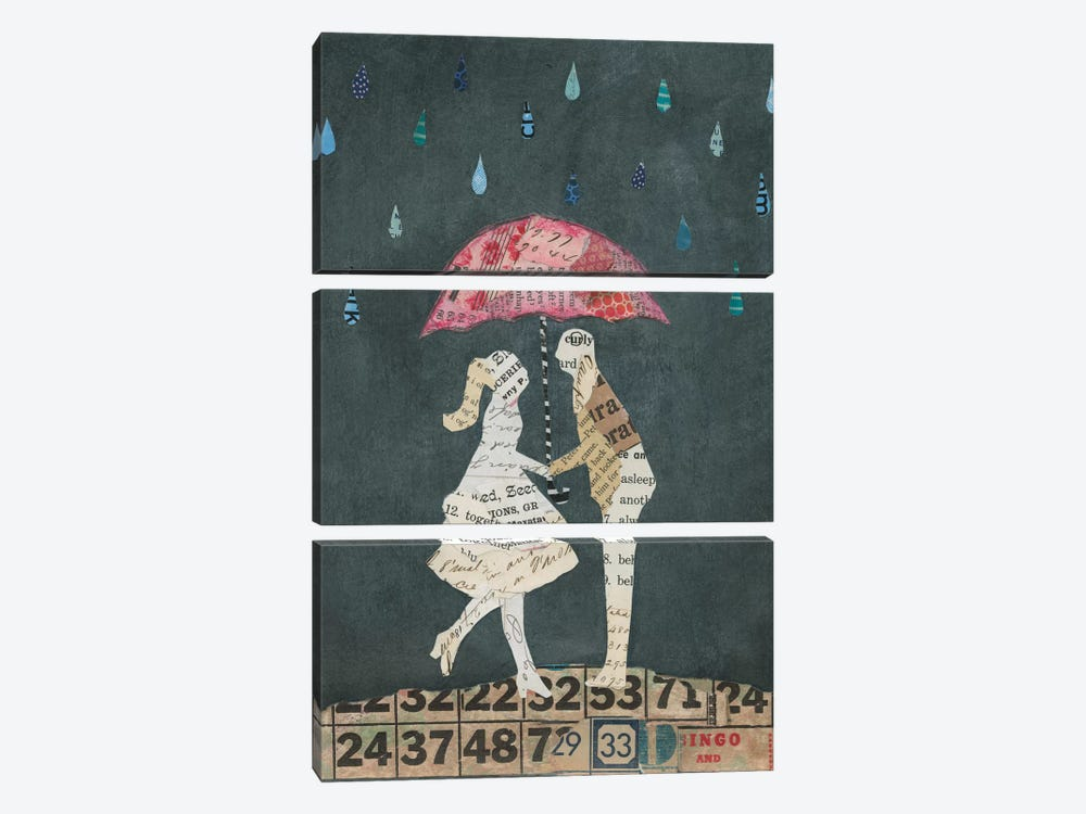 Cute Couple II by Courtney Prahl 3-piece Canvas Artwork