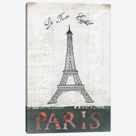 La Tour Eiffel 3-Piece Canvas #WAC3831} by Courtney Prahl Canvas Art Print