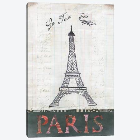 La Tour Eiffel Canvas Print #WAC3831} by Courtney Prahl Canvas Art Print