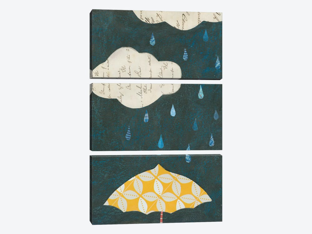 Spring Rain I by Courtney Prahl 3-piece Canvas Wall Art