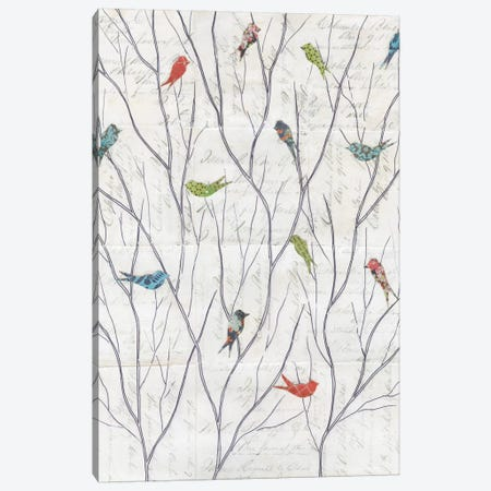 Summer Birds Background I Canvas Print #WAC3834} by Courtney Prahl Canvas Wall Art