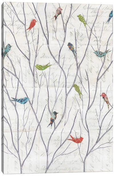 Summer Birds Background I Canvas Art Print