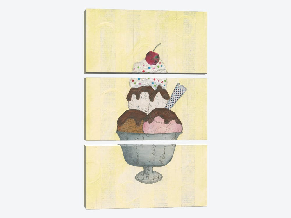 Sundae Delight II by Courtney Prahl 3-piece Canvas Wall Art