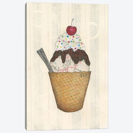 Sundae Delight III Canvas Print #WAC3837} by Courtney Prahl Canvas Wall Art