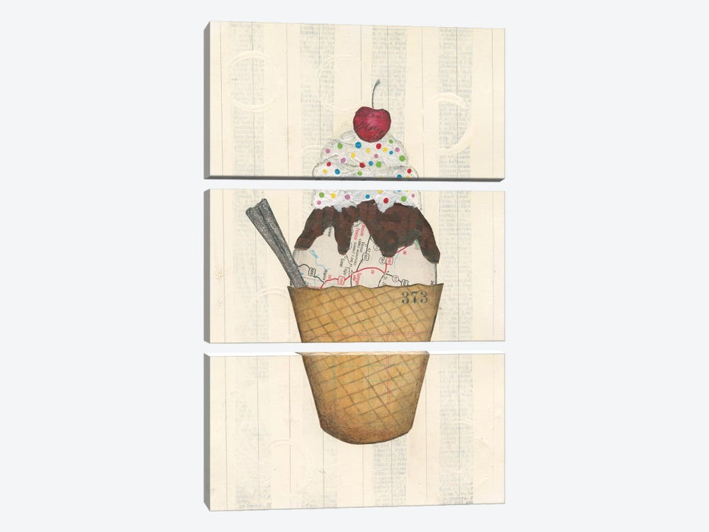 Sundae Delight III by Courtney Prahl 3-piece Canvas Art Print