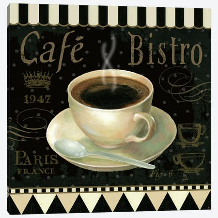 Cafe Parisien IV Canvas Print #WAC383} by Daphne Brissonnet Art Print