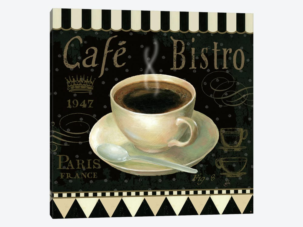 Cafe Parisien IV 1-piece Canvas Art Print