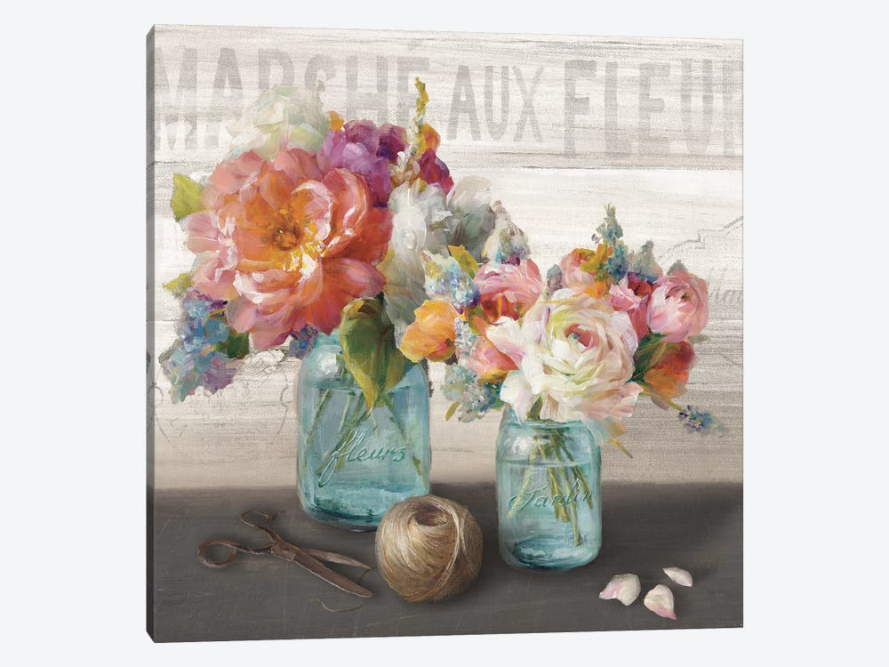 French Cottage Bouquet III by Danhui Nai 1-piece Canvas Print