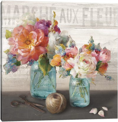 French Cottage Bouquet III Canvas Art Print