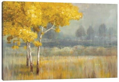 Yellow Landscape Canvas Art Print