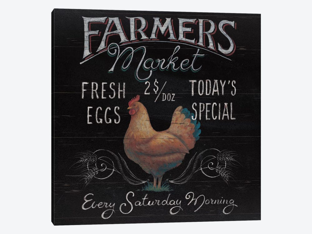 Farmers Market I by Daphne Brissonnet 1-piece Canvas Print