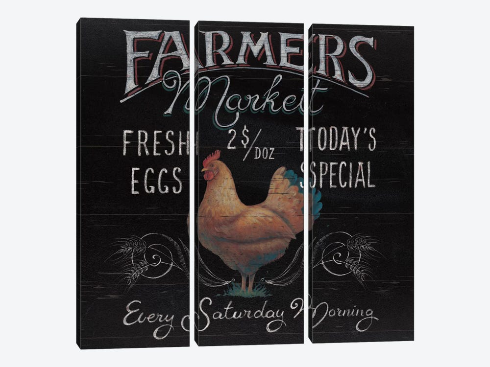 Farmers Market I by Daphne Brissonnet 3-piece Canvas Art Print
