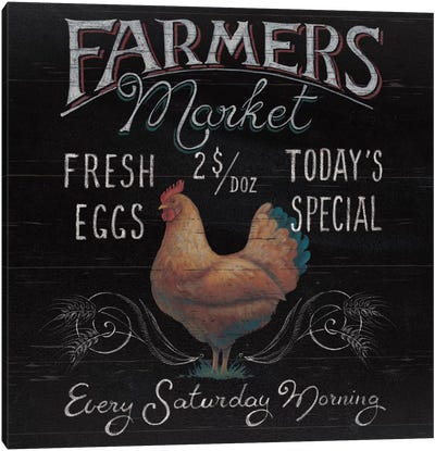 Farmers Market I Canvas Art Print