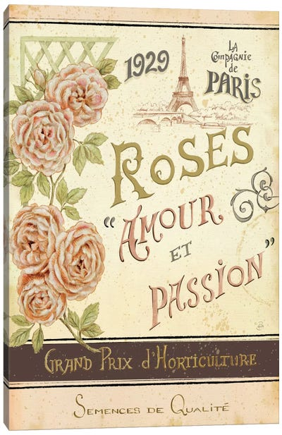 French Seed Packet I  Canvas Print #WAC384