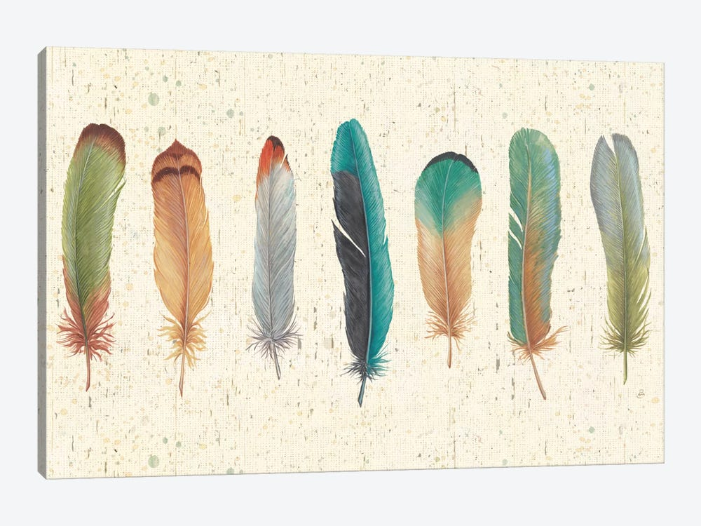 Feather Tales VII 1-piece Canvas Wall Art