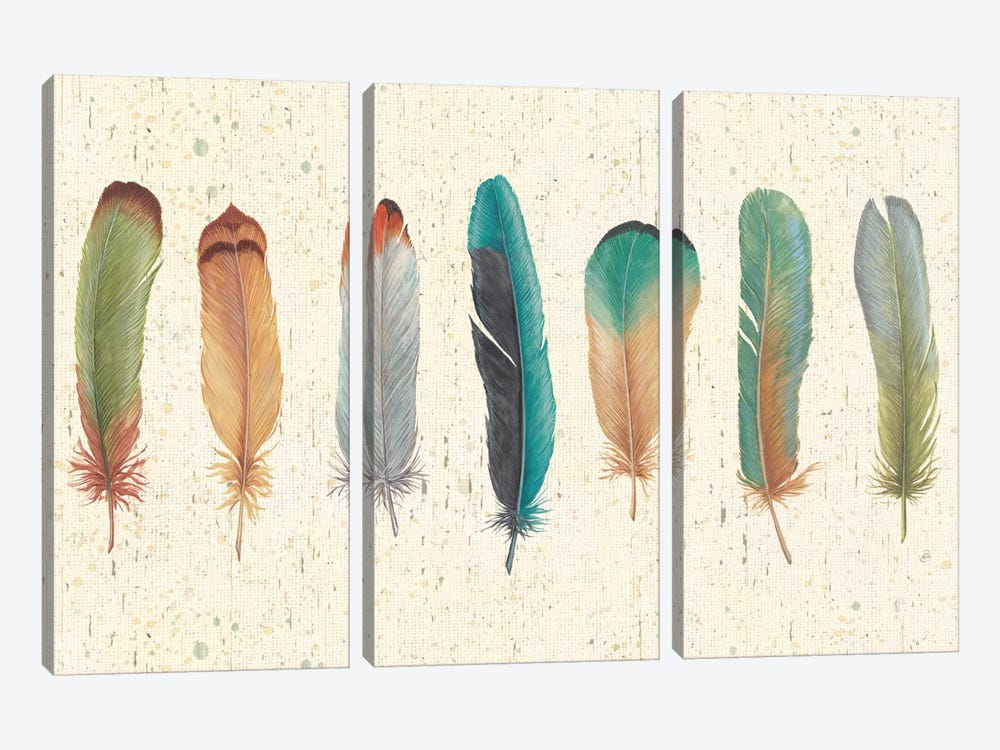 Feather Tales VII 3-piece Canvas Artwork
