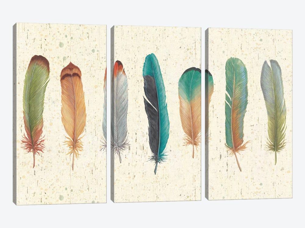 Feather Tales VII by Daphne Brissonnet 3-piece Canvas Artwork
