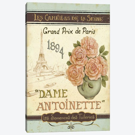 French Seed Packet II  Canvas Print #WAC385} by Daphne Brissonnet Canvas Art