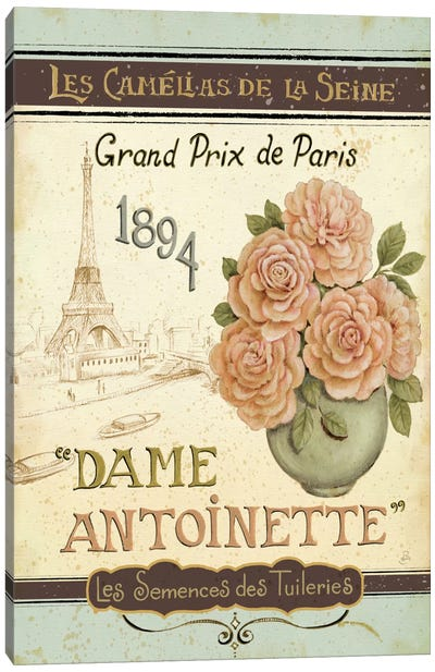 French Seed Packet II  Canvas Art Print