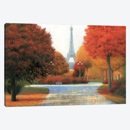 Autumn In Paris Canvas Print #WAC3865} by James Wiens Canvas Art Print